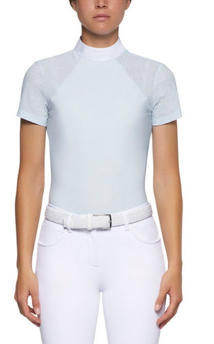 Ladies Cavalleria Toscana Polo With Perforated Inserts