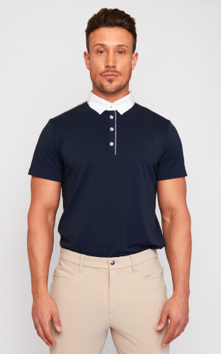 Mens Cavalleria Toscana Piquet Piping Polo