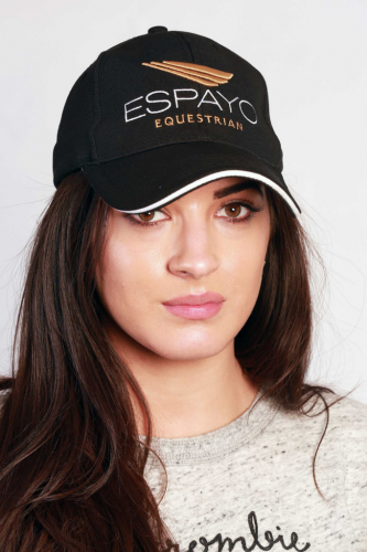 Espayo Equestrian Cap in White and Gold