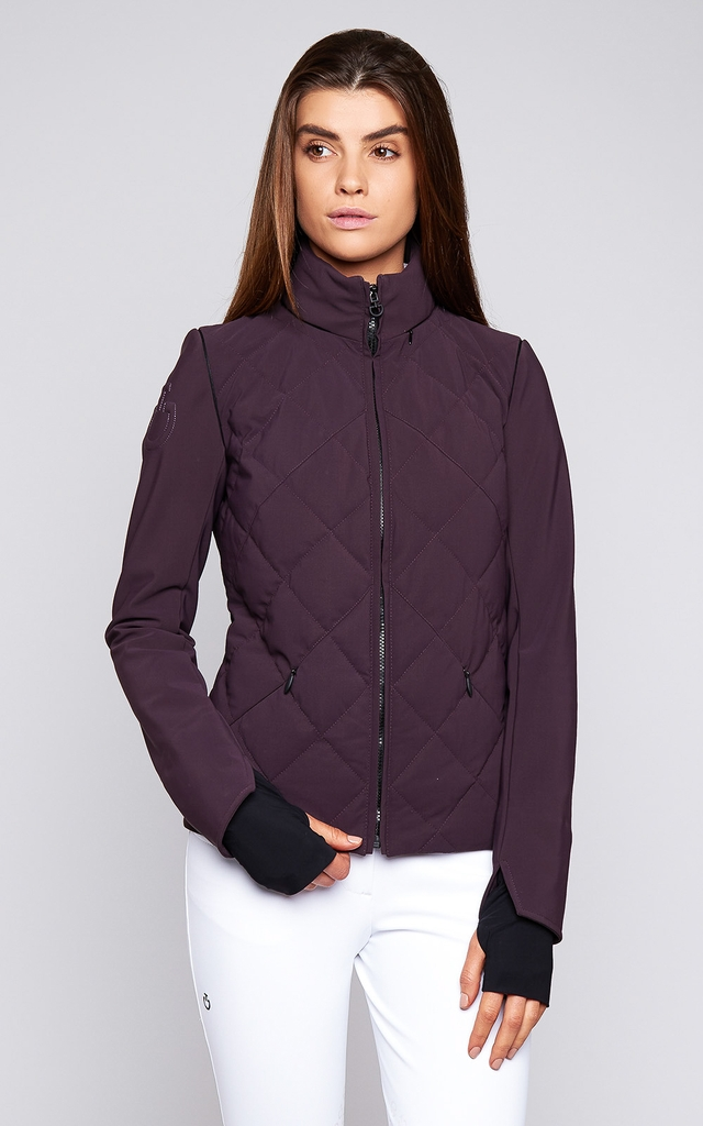 Ladies Cavalleria Toscana Argyle Quilted Jacket With