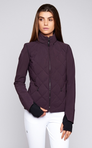 Ladies Cavalleria Toscana Argyle Quilted Jacket With Detachable Sleeves