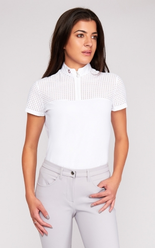 Ladies Cavalleria Toscana Big Perforated Polo