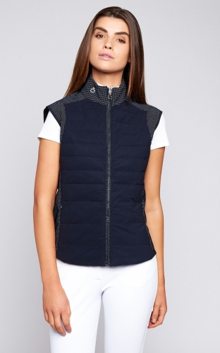 Ladies Cavalleria Toscana Degrade Quilted Sleeveles Puffer