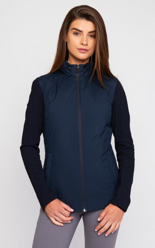 Ladies Cavalleria Toscana Lightweight Down Puffer Jacket In Nylon And Embossed Jersey