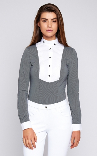 Ladies Cavalleria Toscana Long Sleeve Shirt With Bib