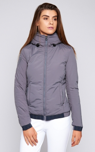 Ladies Cavalleria Toscana Nylon Hooded Jacket With Fleece Lining