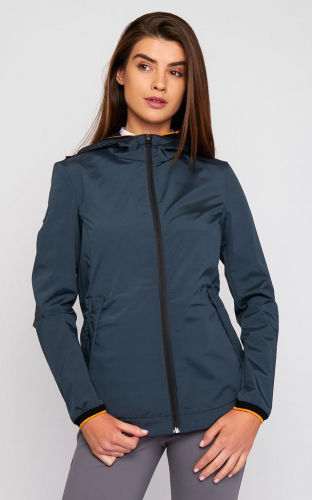 Ladies Cavalleria Toscana Nylon Hooded Side Zip Jacket