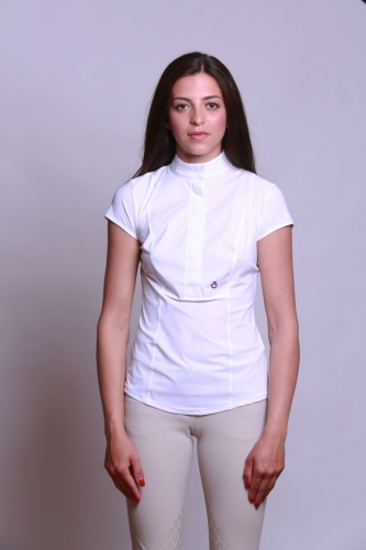 Ladies Cavalleria Toscana Perforated Shirt Short Sleeves