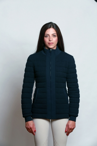 Ladies Cavalleria Toscana Quilt Mix Jacket