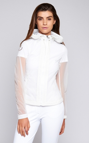 Ladies Cavalleria Toscana Transparent Windbreaker