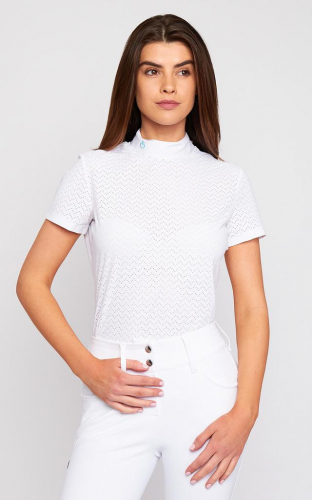 Ladies Cavalleria Toscana Vertical Perforated Jersey Competition Polo