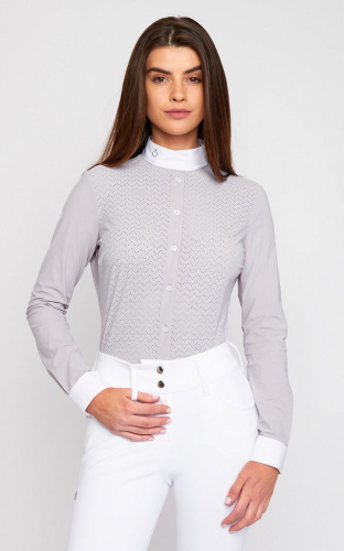 Ladies Cavalleria Toscana Vertical Perforated Jersey Competition Shirt