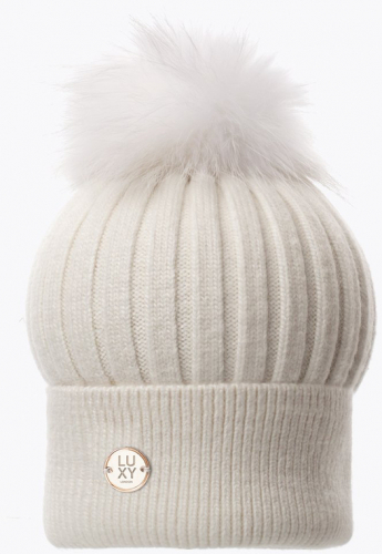 Luxy London Classic Pom Pom White