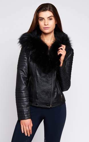 Luxy London Leather and Fur Biker