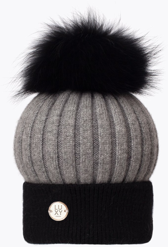 a50ee95f6cf Luxy London Two Tone Pom Pom Black and Grey - Espayo Equestrian